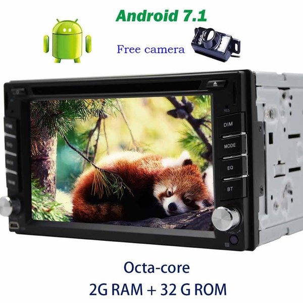 Trip computer Android 7.1 car pc in Dash Double din GPS car DVD Player on-board computer for car Octa-core GPS Navigation Bluetooth