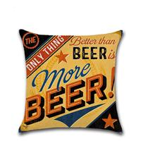 Bulk 12 Patterns Beer Theme 45*45cm Household Linen Cushion Covers Bedroom Set Christmas Gifts Home Decor Party Decoration Crafts and Art