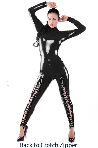 Clubwear Costume Zentai Clothes Sexy Women Adult Latex Vinyl Fetish Catsuit Pole Dancing Catsuit Passion CA-0007
