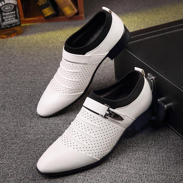 Nouveau chaussures de mariage pour hommes d'affaires des chaussures de loisirs pour hommes pointues aide faible définir pied chaussures de cuir respirant