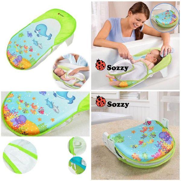 Sozzy Katlanabilir Yenidoğan Küvet / Yatak / Ped Çocuklar Duş Net Banyolar Sandalye / Raf Bebek Küvet Destek 0-12 Ay Için Bebek FJ