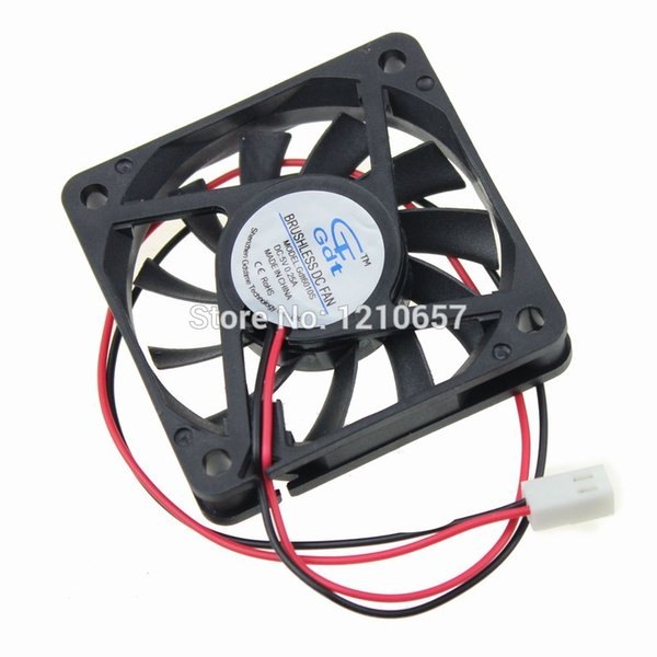 20 Pieces Lot Gdstime 60mm 60x60x10mm DC 5V 2Pin 2510 Connector Brushless Cooling Cooler Fan