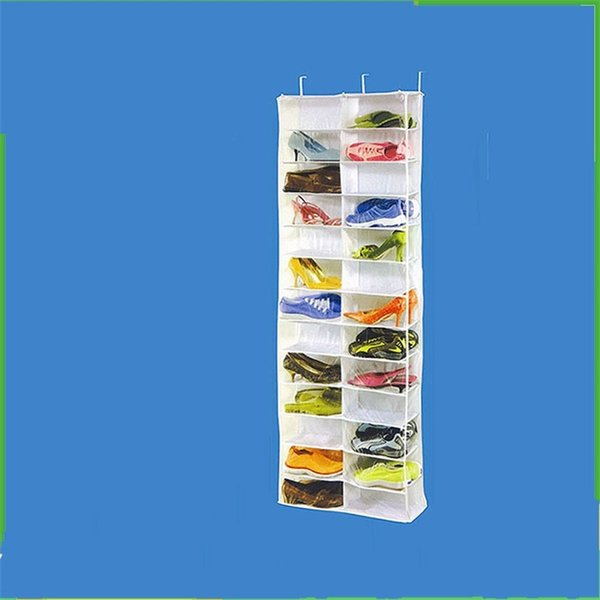 Multifunction Storage Bags 26 Lattice Door Hanging Holder Shoes Organizer Useful Nonwoven Fabric Closet Shoe Rack Save Space 24my ii