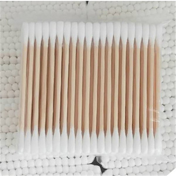100pcs one pack Women Beauty Makeup Cotton Swab Double Head Cotton Buds Make Up Wood Sticks Nose Ears Cleaning Cosmetics