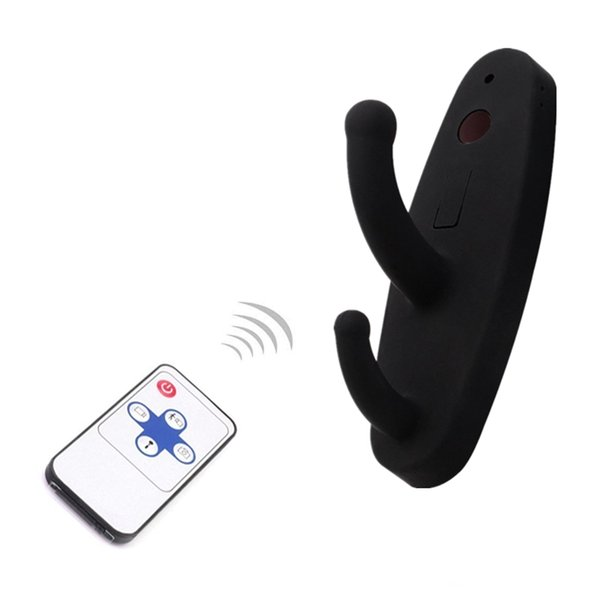 Black Clothes Hook Camera HD 720P Clothes Hanger Mini Camera with Motion Detection Remote Control Mini Security DVR Nanny Cam