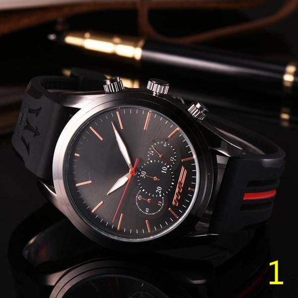 Fashion Mens Sport Wrist Watch Maserati Rubber Strap Quartz Movement Gift Time Clock Wacth Relojes Hombre Horloge Orologio Uomo