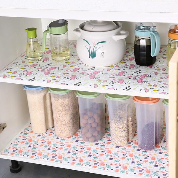 300x30/45см масл-доказательство кухня бумажный ящик шкаф площадку влаги-доказательство Водонепроницаемый коврик шкаф холодильник фламинго мат циновка таблицы