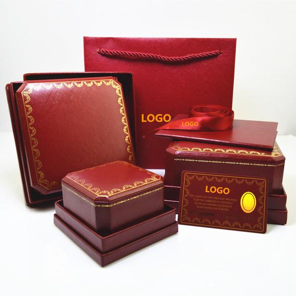 Üst sınıf ünlü marka bilezik ve yüzük ve kolye orijinal çanta takı hediye kutusu ücretsiz kargo