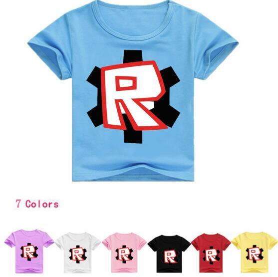 Children's Day Kids Boys T-shirt Girls Tops Tees Cartoon five nights at freddy's Tshirt Kids Clothes ROBLOX RED NOSE Day T-Shirt