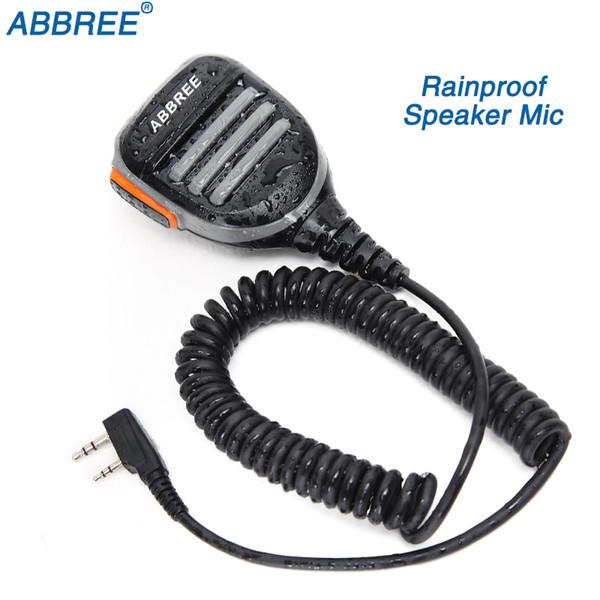 ABBREE 2 Pin PTT Remote Waterproof Shoulder Speaker Mic Handheld Microphone for  TYT Baofeng UV-5R 888S Walkie Talkie