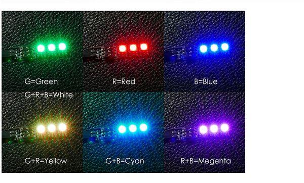 rgb switch RGB 5050 LED Light Board 5V 12V 3S 4S 7 Colors Switch for RC 250 QAV250 FPV Quadcopter Multicopter F16184/85