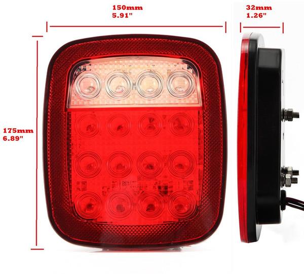 best selling Stop Tail Reverse Driving Brake License Light LED Rear Light 12v for Auto Truck Trailer Boat 2Pcs