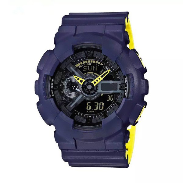 2018 new Relogio,110 Men's Sports Watch, LED Chronograph, Waterproof Military Watch, Digital Watch, Full-Featured Work Lights, Car Lights