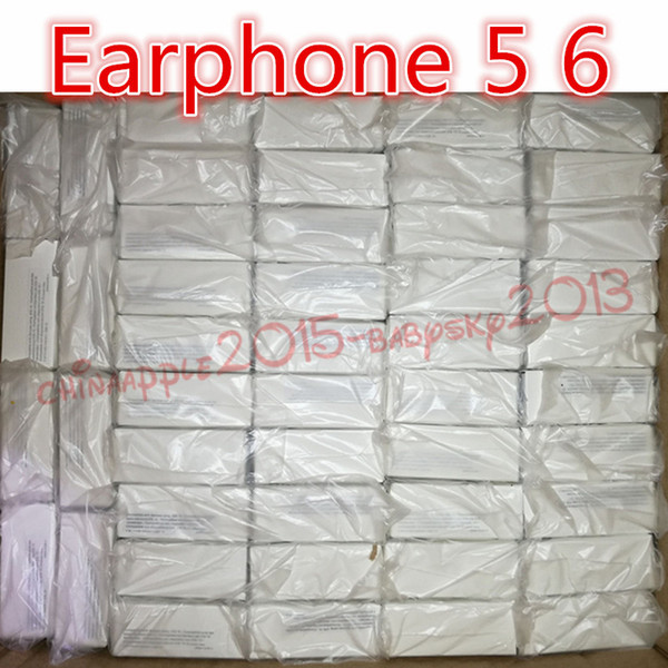 Écouteurs avec emballage casque de qualité véritable dans l'oreille écouteurs avec contrôle à distance pour jack 3,5 mm téléphone 5 6 6s plus