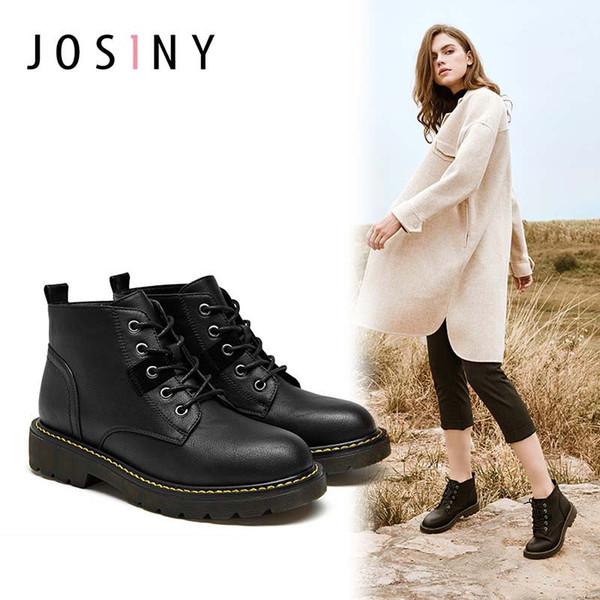 Botas de mujer Botas cortas de invierno Nuevas botas para mujer Británicas Wind Chunky Heel Boot Mujer Otoño e Invierno Martin Botas de mujer