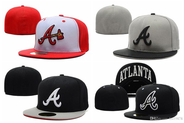 Brand new arrival high Quality Hip Hop Braves Baseball caps Spring Summer Men Women Fitted Hats