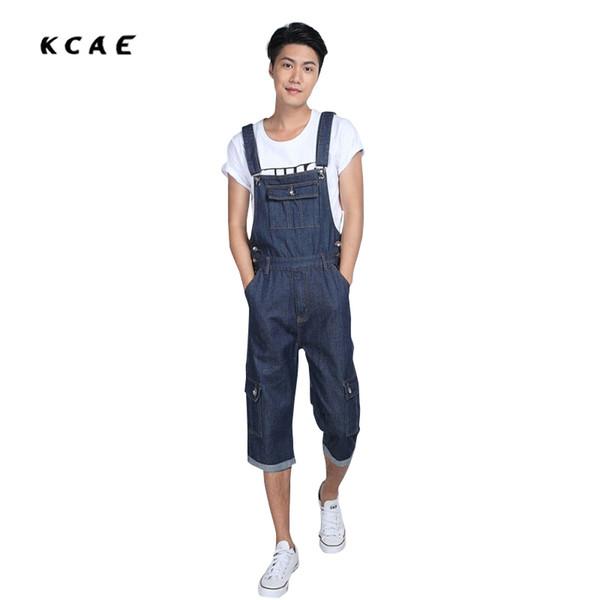 Summer Preppy Style Fashion Casual Mens Denim Overalls Jumpsuit , Male Stylish Unique Jeans Jumpsuits Bib Pants For Men Size 5XL