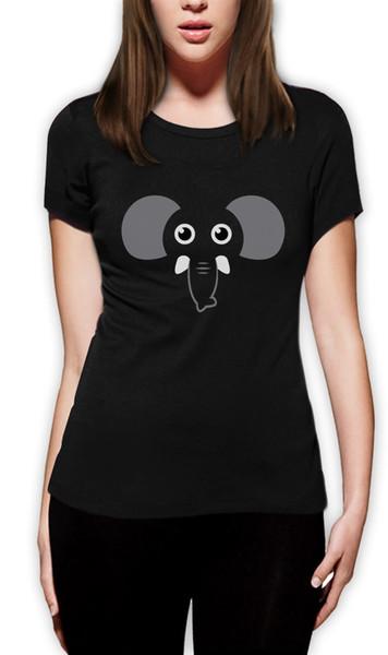 Tee 2018 Moda elefante faccia regalo femminile per gli amanti degli elefanti Cute divertente T-Shirt da uomo amante animale camicia manica corta casual Tee