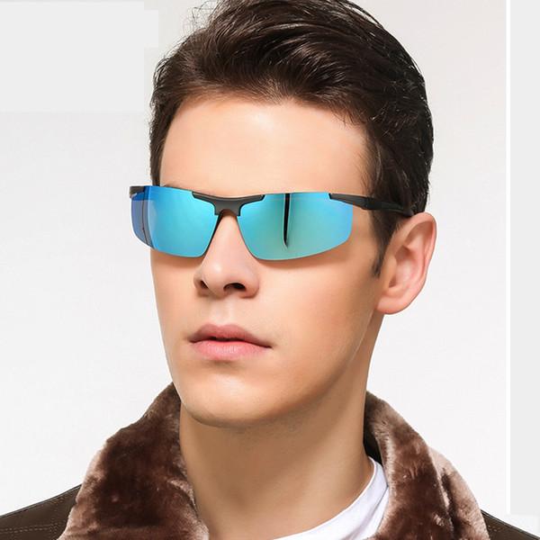 Спорт на открытом воздухе поляризованные мужские солнцезащитные очки алюминиевая рамка магния мужская цвет UV400 солнцезащитные очки Очки для верховой езды Оптовая
