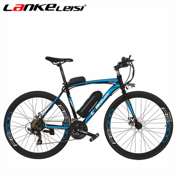 wholesale RS600 26Inch Ebike Battery 36V Lithium Electric Bike 21 Speed High-Carbon Steel Road Electric Bicycle Motor 240Watt