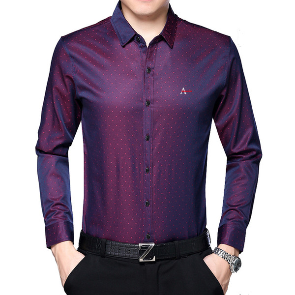 DUDALINA 2017 Masculina Camisa Good quality Slim Fit Silk Cotton Men Clothing Business Formal Mens Long Sleeve Work Dress Shirt