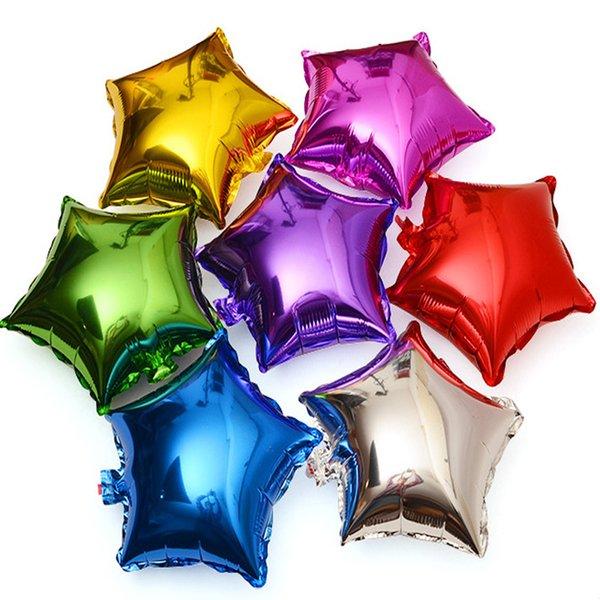 10 inch Moon Five-pointed star Aluminum foil balloon wedding birthday party wedding Market hotel supplies air balloons