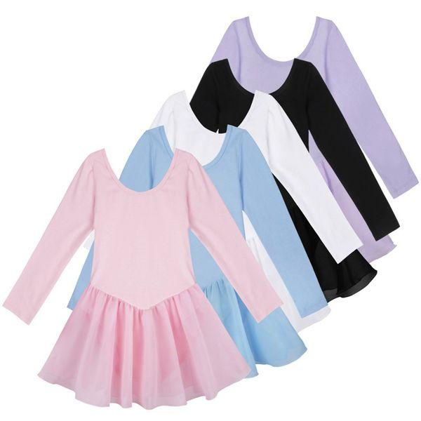 Girls Long Sleeve Ballet Dress Dancer Gymnastic Leotard Girl Dance Kids Ballet Costumes For Girls Dance Leotard Girl Dancewear