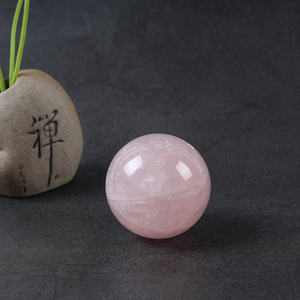 Wholesale Natural Pink Rose Quartz Magic Crystal Healing Ball Sphere Crystal Quartz Ball 40mm For Sale 1PCS