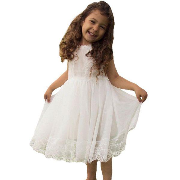 2018 New Fashion Girl Summer Children's Clothing Kids Flower Dress Chiffon Princess Costume Girls Kids Flower Girl Dress Support customized