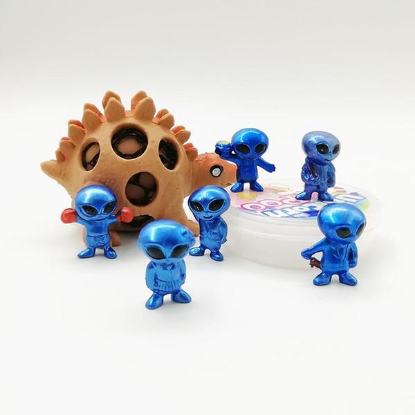 Uzaylı Karikatür El Model Oyuncak Eğitim Yenilik Çocuk Ambalajın açılması Eylem Kapsül Doll Bebek Oyuncakları Hediye Şekil
