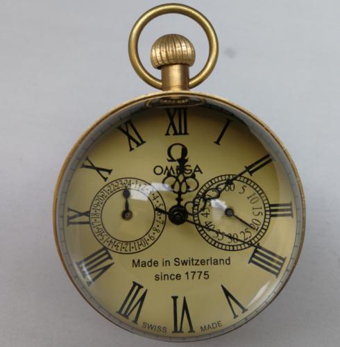 Reloj de bolsillo CHINESE BRASS vintage de 2.5 pulgadas / Works. Reloj de bolsillo BALL