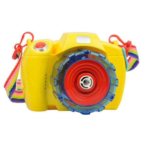 Giocattoli elettrici della macchina fotografica della bolla del commercio all'ingrosso 2016 Bolle di salto con musica leggera giocattolo elettrico della pistola della bolla per i giocattoli dei bambini dei bambini
