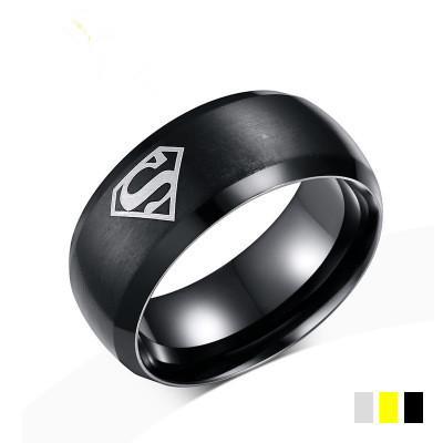 2018 Nuovi anelli da uomo europei e americani caldi Anelli in acciaio al titanio per uomo Anello superman Regalo cool