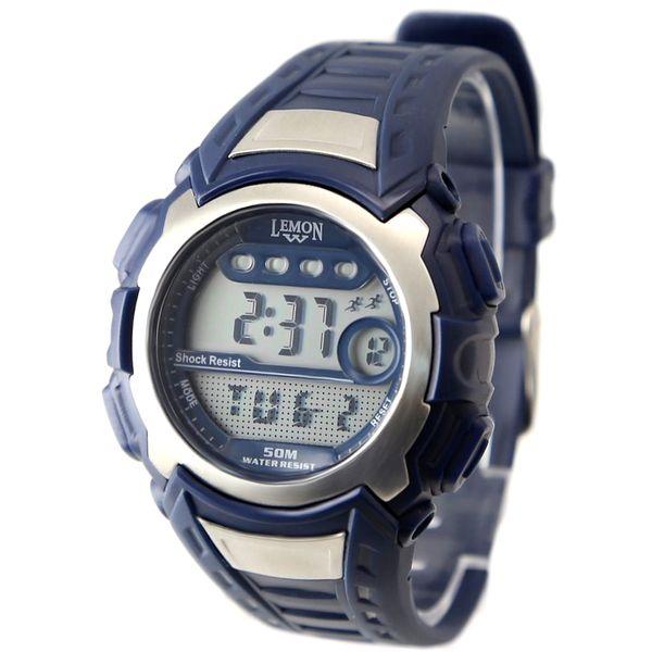 DW326D Dunkelblaue Uhr Chronograph BackLight Wasser Resist Herren Digitaluhr