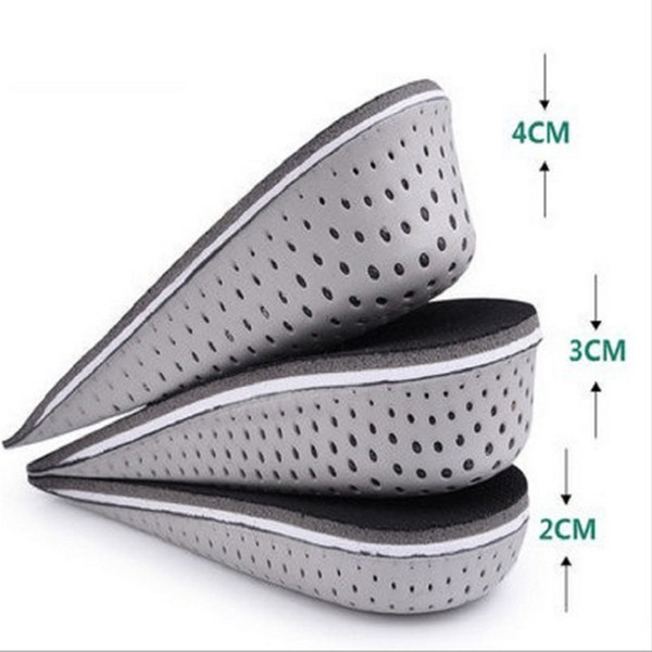 3 Sizes EVA Stealth Adjustable Increased Insoles For Men Women Shoes Pad Increase Height Insole Air Cushion Lift Pads Heel