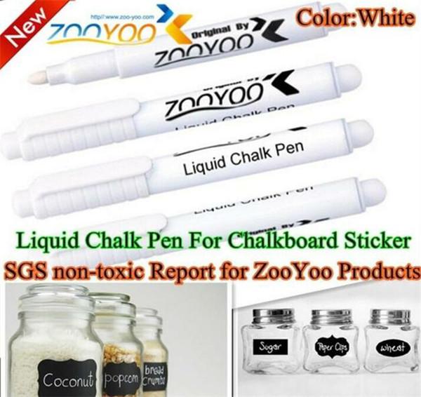 200pcs Liquid Chalk Pen Erasable Chalk Pen nursery wall sticker for Chalkboard White Liquid Chalk Pen vinyl wall decal vinilos decora G326