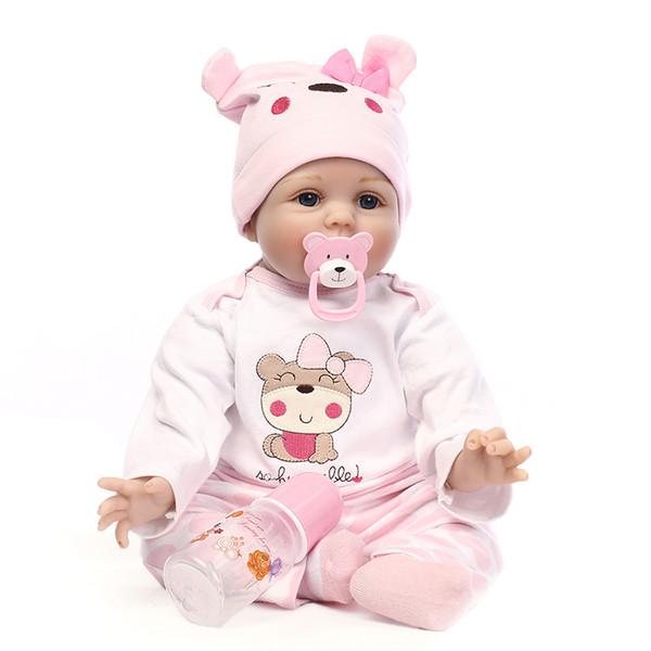 55 cm / 22 pulgadas Nueva Llegada Realista Niño Bebé Hecho A Mano de Vinilo de Silicona Adorable Chica Niño cuerpo Reborn Baby Doll