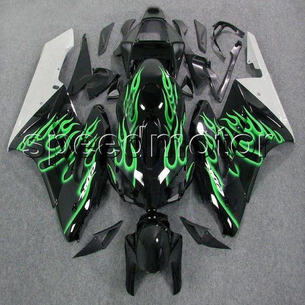 colors+Gifts Injection mold green flames CBR 1000 RR motorcycle Fairing for HONDA 2004 2005 CBR1000RR 05 04 ABS plastic kit
