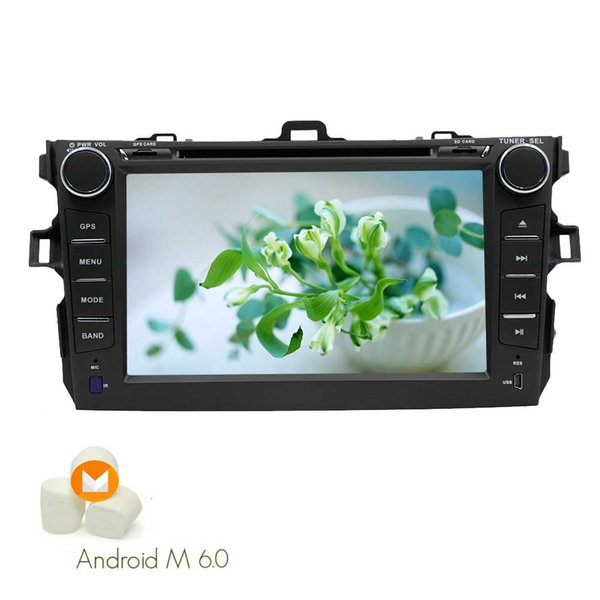 In Dash Android 6.0 Double Din Car DVD Player for Toyata Corolla 7'' Capacitive Touch Screen Car Stereo GPS Navigation Headunit WiFi