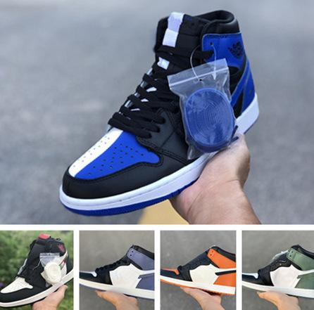 cd88e598785 2018 1s High Shattered Backboard Clay Green men basketball shoes with  originals box 1s Blue Moon