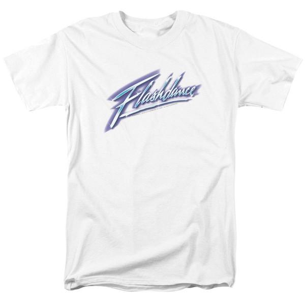 Flashdance Logo T-shirt para o Verão de Manga Curta de Algodão Das Mulheres Dos Homens ou Crianças Camisas Dos Homens de Manga Curta Tendência Roupas