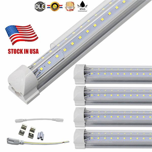 Tube LED, 8FT 72W (équivalent fluorescent 150W), ampoule intégrée à double face en V, fonctionne sans ballast T8, Plug and Play, C