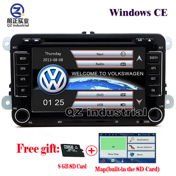 QZ 1080P rns510 2din 7inch Car DVD player for VW JETTA PASSAT/B6/CC GOLF 5/6 POLO Touran Tiguan Caddy SEAT with radio Wifi GPS 3G Navigation
