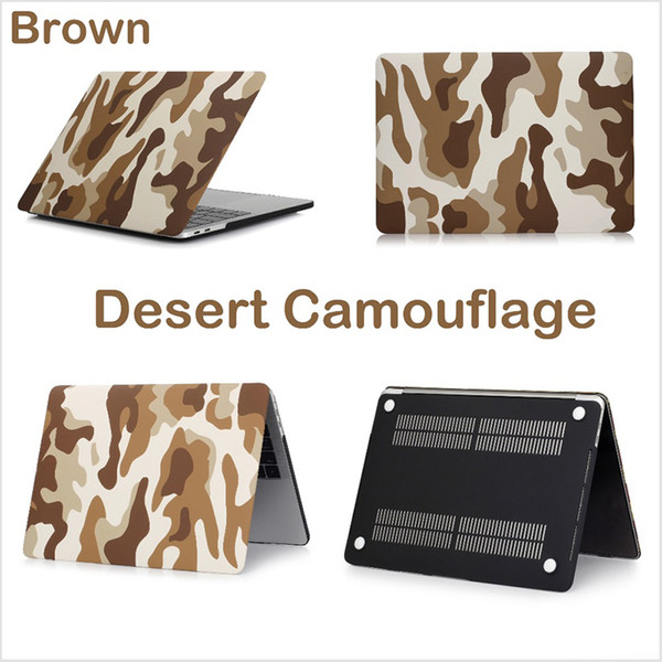 Ultra Slim Light Military Camouflage Decal pattern Rubberized Matte Hard Case Plastic Protect Shell Cover for Macbook 11 /12/13/15 inch