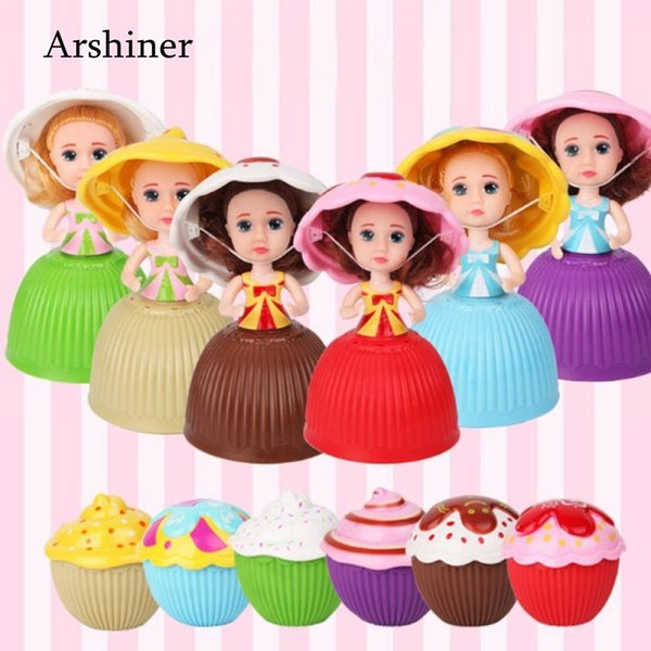 2018 Mini Cartoon Lovely Cupcake Princess Doll Transformed Scented Beautiful Cute Cake Doll Toy Girls 8 cm Toys for Children NEW