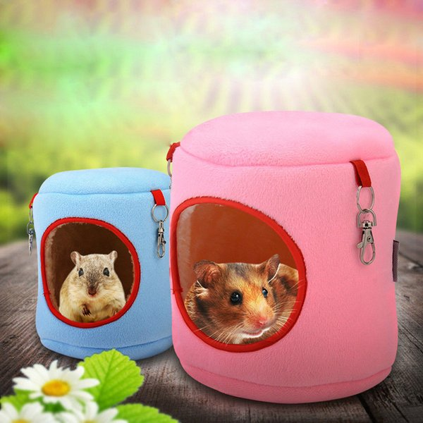 Pet Warm Bed Rat Hammock Bed Squirrel Winter Toys Pet Hamster Cage House Hanging Nest For guinea pig Rabbit rabbit cage chinchilla