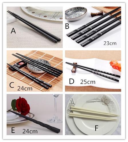 Palillos chinos de alta calidad de la tajada de sushi Regalos chinos del aprendiz del palillo establecidos Accesorio de cocina antideslizante exquisito