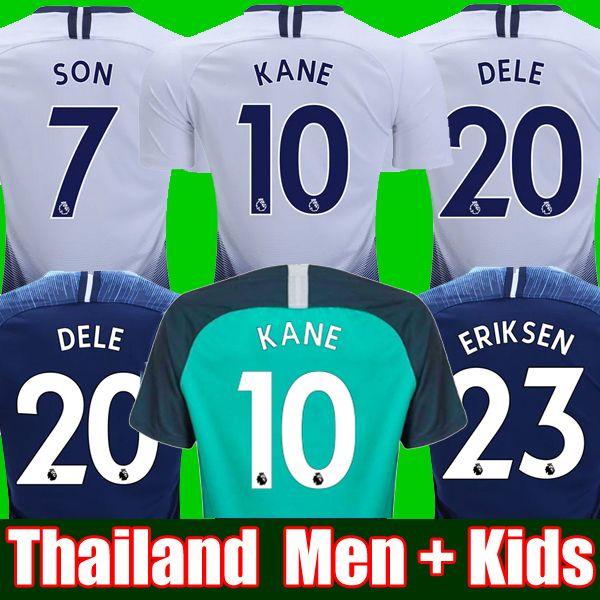 9a2869a5f Top thailand quality KANE spurs Soccer Jersey 2018 2019 LAMELA ERIKSEN DELE  SON jersey 18 19 Football kit shirt Men and KIDS KIT SET uniform