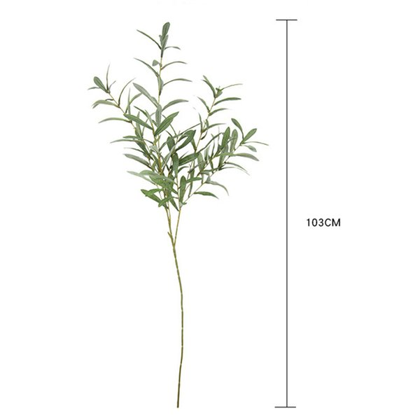 103cm Artificial Flower Leaf Green Olive wedding home decorative Branches Simulation Artificial Plant Wedding Decorative Bouquet