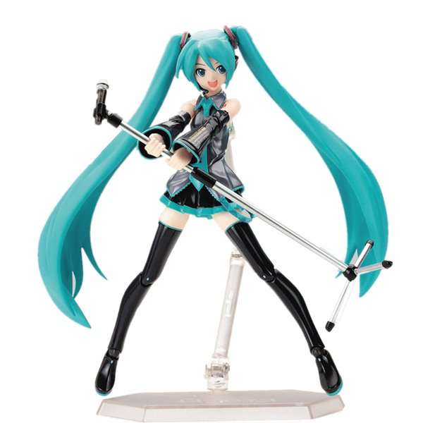 Surwish 15cm Movable Anime Action Figure Hatsune Miku Model Toy Doll Toy -Blue